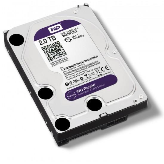 Western Digital Purple 2TB 3.5 Inch SATA 5400RPM Surveillance Hard Disk