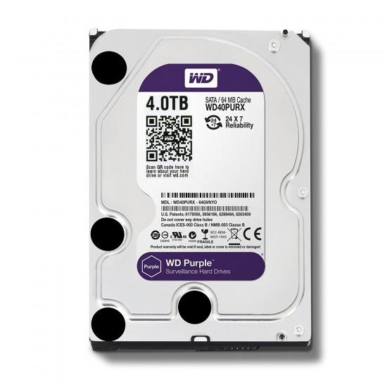 Western Digital Purple 4TB SATA 5400RPM 3.5 Inch Surveillance Hard Disk