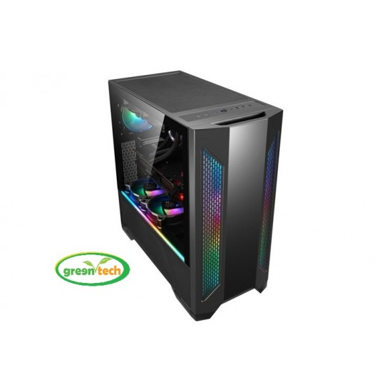 LIAN LI LANCOOL II RGB ATX MID TOWER GAMING CASE (BLACK)