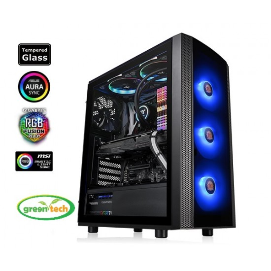 THERMALTAKE VERSA J25 TEMPERED GLASS RGB EDITION MID-TOWER CASE
