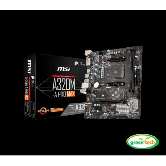 MSI A320M-A Pro Max DDR4 AMD AM4 Socket Motherboard