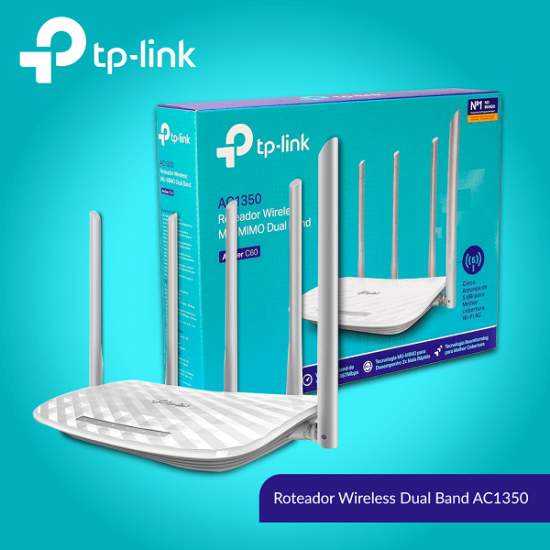 TP-Link Archer C60 AC1350mbps Dual Band Router With 5 Antenna