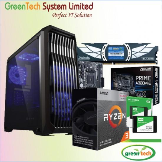 GreenTech-Amd Ryzen 3 3200G PC With 4gb ddr4 ram & 120GB SSD