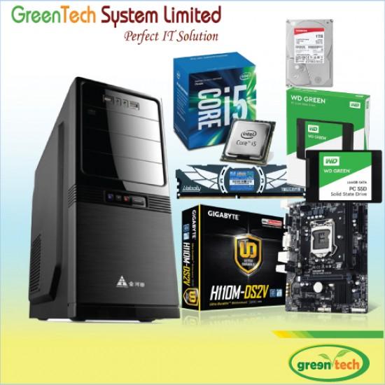 GreenTech-Intel 7th Gen Core i5 Processor PC With 1tb hdd & 8gb RAM