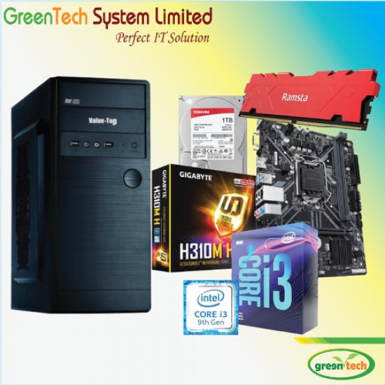 GreenTech-Intel 9th Gen Core i3 PC With 1TB HDD & 4gb DDR4 RAM