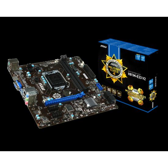 MSI H81M-E33 DDR3 4th Gen.LGA 1150 Socket Motherboard